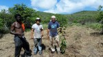 Invasive grass is cleared and native trees installed as part of a private reforestation project